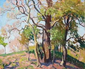 Artwork by Frederick Stanley Haines, Spring Landscape