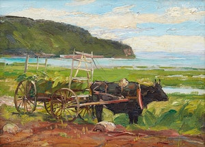 Artwork by Frederick William Hutchison, Baie St-Paul