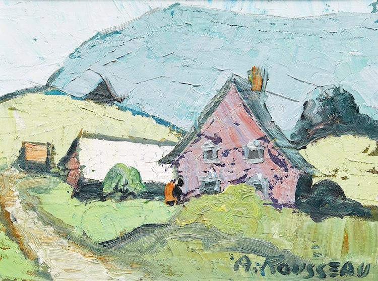Artwork by Albert Rousseau,  Village Landscape
