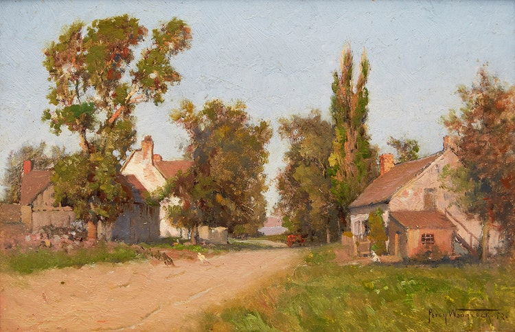 Artwork by Percy Franklin Woodcock,  Lachine Road