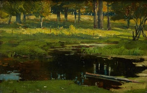 Artwork by Peleg Franklin Brownell, The Pond