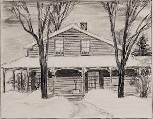 Artwork by Thoreau MacDonald, Four Landscapes
