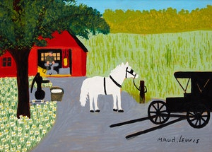 Artwork by Maud Lewis, Blacksmith Shop
