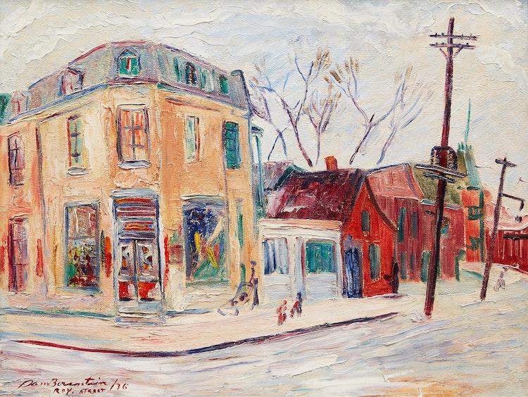 Artwork by Samuel Borenstein,  Roy Street, Montreal