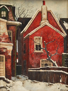 Artwork by John Kasyn, Yard with Apple Tree, D'Arcy Street, Toronto
