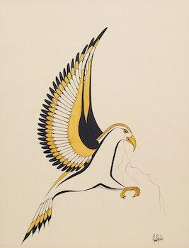 Artwork by Rhonda Franks, Two Tone Thunderbird