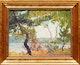 Thumbnail of Artwork by Bernice Fenwick Martin,  Lake with Screen of Birch Trees, circa 1929-30