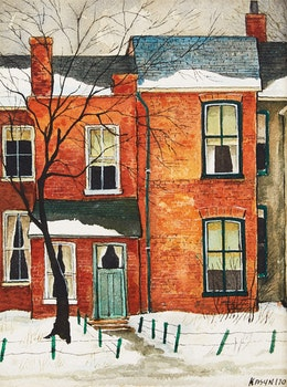 Artwork by John Kasyn, Widmer St.