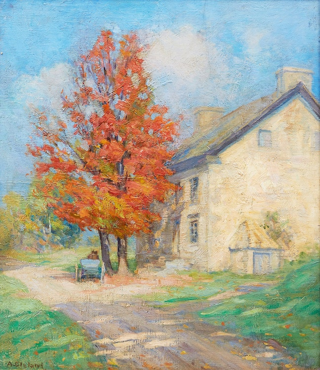 Artwork by Mary Alberta Cleland,  Road to the Country House