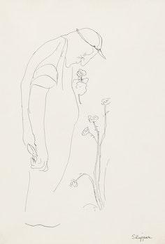 Artwork by Gary Slipper, Untitled (Picking Roses)