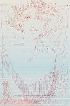 Artwork by Claude A. Simard, Untitled (Portrait)
