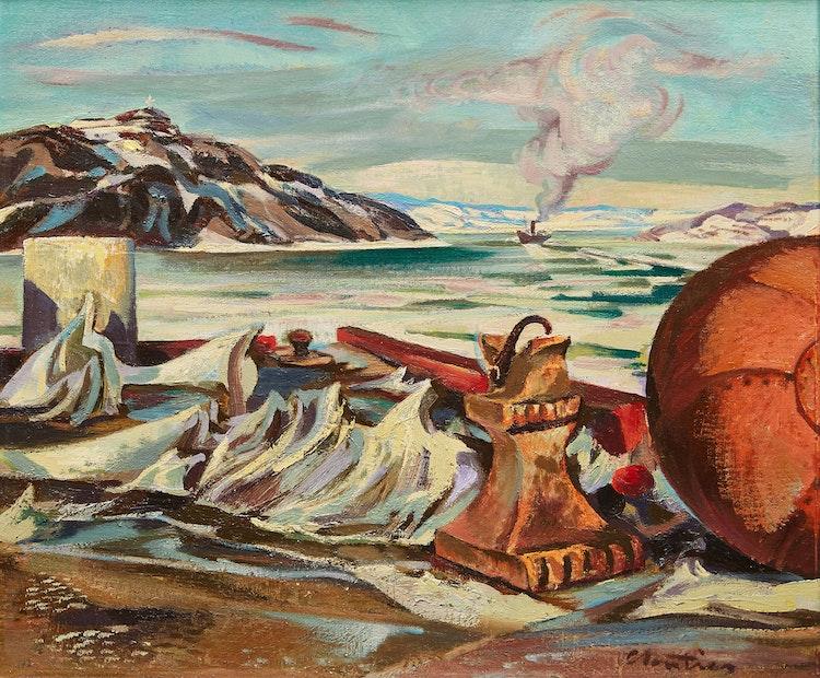 Artwork by Albert Edward Cloutier,  Baie Ha Ha, Saguenay