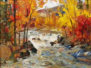 Artwork by Armand Tatossian, Autumn Landscape