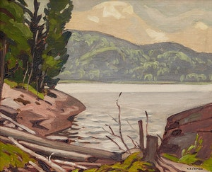 Artwork by Alfred Joseph Casson, Shoreline Landscape