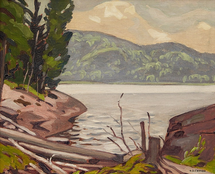 Artwork by Alfred Joseph Casson,  Shoreline Landscape