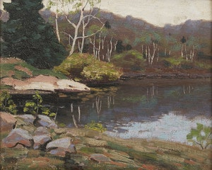 Artwork by George Thomson, Lake Muskoka