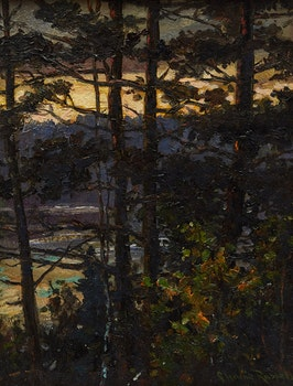 Artwork by George Horne Russell, Forest Landscape