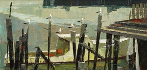 Artwork by Hilton MacDonald Hassell, Lobster-Boat Watch