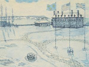Artwork by Nicholas Hornyansky, Fort Niagara; Fort Mississauga