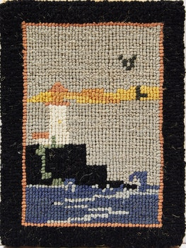 Artwork by  Grenfell Labrador Industries, Seascape with Lighthouse