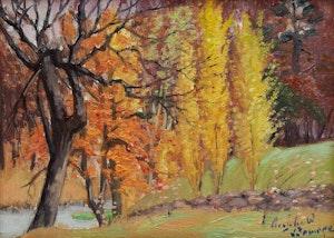 Artwork by J. Archibald Browne, Autumn Landscape