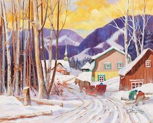 Artwork by Claude Langevin, Corvée du bois