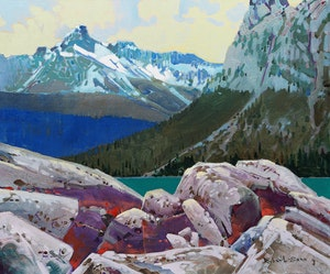 Artwork by Robert Genn, Cathedral Pattern, Yoho Park, B.C.