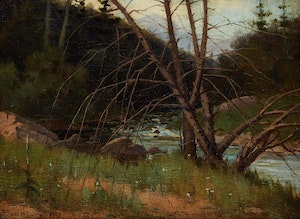 Artwork by Farquhar McGillivray Strachan Knowles, River Landscape