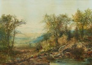 Artwork by Aaron Allan Edson, Landscape in Glen Sutton