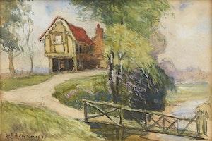 Artwork by William Edwin Atkinson, Summer Landscape