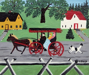 Artwork by Maud Lewis, Carriage Ride Through Town