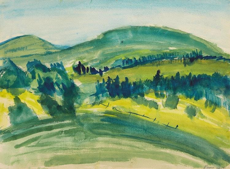 Artwork by William Paterson Ewen,  Untitled (Landscape)
