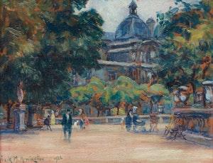 Artwork by Frank Milton Armington, Jardin du Luxembourg, Paris