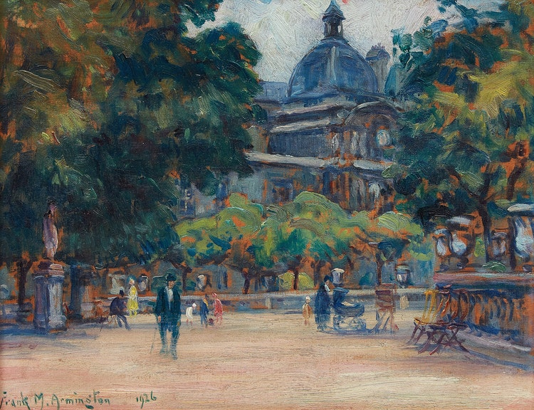 Artwork by Frank Milton Armington,  Jardin du Luxembourg, Paris