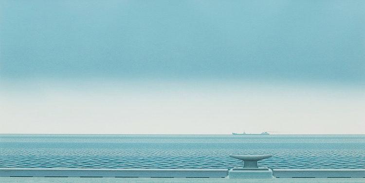 Artwork by Christopher Pratt,  Gaspé Passage