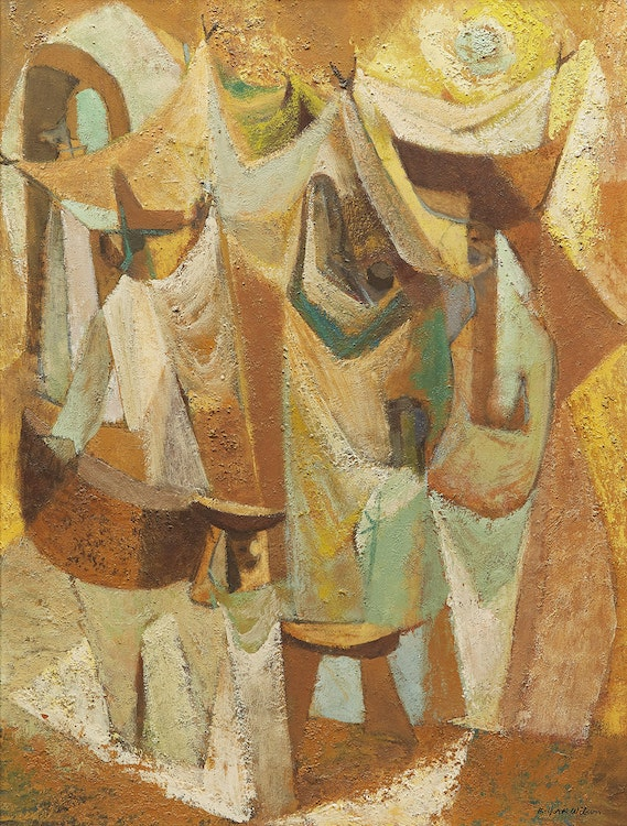 Artwork by Ronald York Wilson,  Market By Day