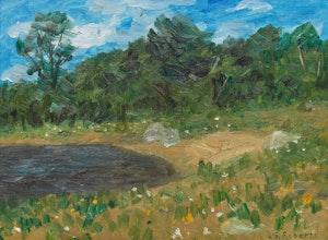 Artwork by William Goodridge Roberts, Summer Landscape
