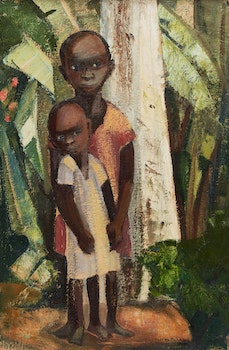 Artwork by Yvonne McKague Housser, Untitled (Two Figures)