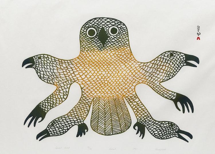 Artwork by Kenojuak Ashevak,  Spirit Bird