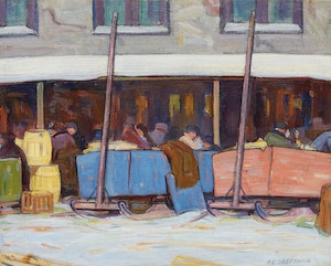 Artwork by Peter Clapham Sheppard, St. Lawrence Market
