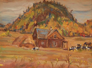 Artwork by Alexander Young Jackson, Farm at Avoca, Quebec
