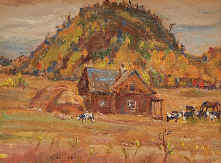 Artwork by Alexander Young Jackson,  Farm at Avoca, Quebec