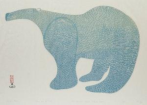 Artwork by Lucy Qinnuayuak, Large Bear