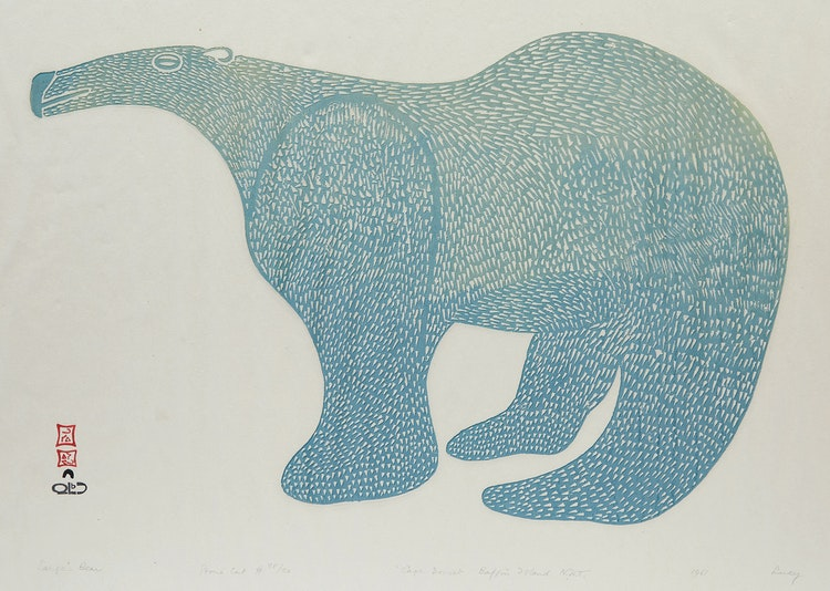 Artwork by Lucy Qinnuayuak,  Large Bear