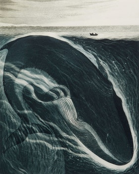 Artwork by David Lloyd Blackwood, The Burgeo Whale: A Whale for the Killing