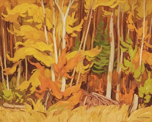 Artwork by Alfred Joseph Casson, Autumn Woodland, Combermere