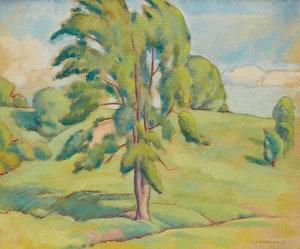 Artwork by Lionel LeMoine FitzGerald, Green Tree