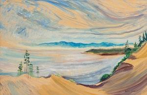 Artwork by Emily Carr, Untitled (Strait of Juan de Fuca from the Gravel Pit) June, 1936