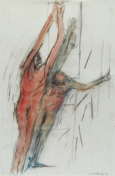 Artwork by Betty Roodish Goodwin, Two Male Figures