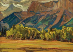 Artwork by Alexander Young Jackson, Mount Rundle at Canmore